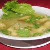 358N - Soupe de nouilles aux raviolis aux crevettes