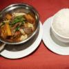 444 - plat de boeuf, fruits de mer, tofu et légumes